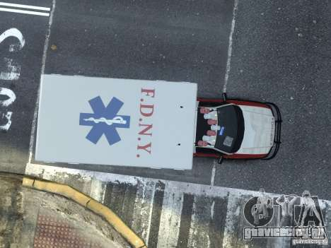 Ford F-350 Ambulance FDNY для GTA 4 вид справа