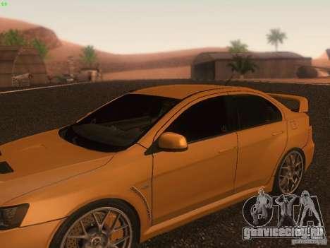 Mitsubishi  Lancer Evo X BMS Edition для GTA San Andreas колёса