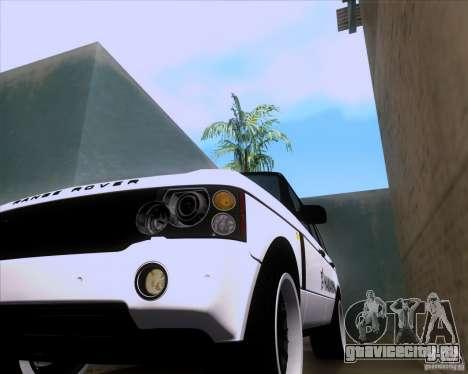 Range Rover Hamann Edition для GTA San Andreas вид изнутри