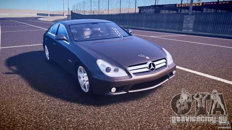 Mercedes-Benz CLS 63 для GTA 4 вид изнутри