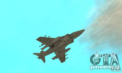 AV-8 Harrier для GTA San Andreas вид сбоку