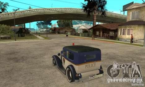 Ford Tudor Custom 1932 для GTA San Andreas вид сзади слева