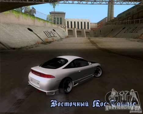 Mitsubishi Eclipse для GTA San Andreas вид изнутри