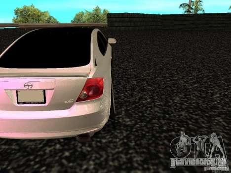 Toyota Scion для GTA San Andreas вид сзади слева
