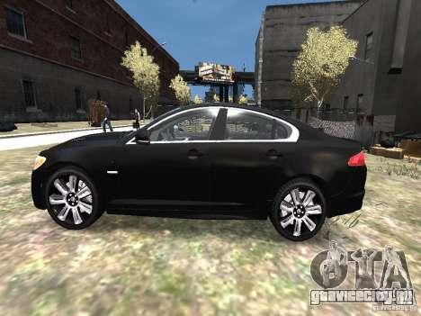 Jaguar XFR для GTA 4 вид слева