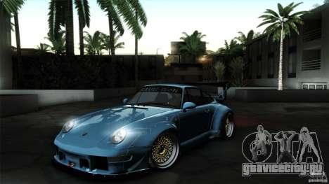 Porsche 993 RWB для GTA San Andreas вид сзади слева