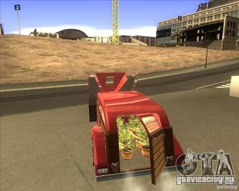 Custom Woody Hot Rod для GTA San Andreas вид сзади слева