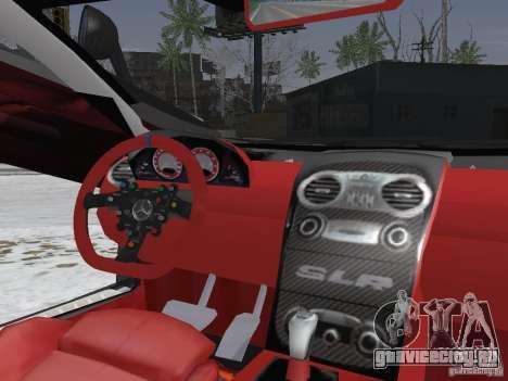 Mercedes-Benz SRL 722 Police для GTA San Andreas вид изнутри