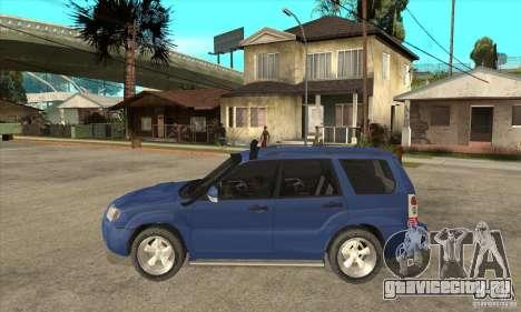 Subaru Forester 2005 для GTA San Andreas вид слева
