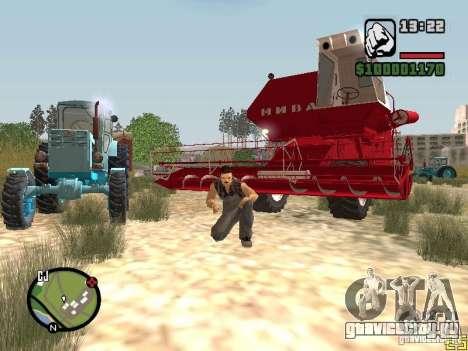 Комбайн СК-5 Нива для GTA San Andreas вид слева