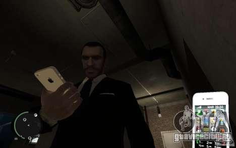 iPhone 4 white для GTA 4 второй скриншот