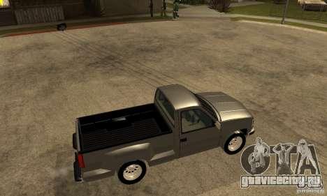 Chevrolet Silverado 1500 для GTA San Andreas вид сзади слева