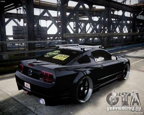 Ford Mustang GT Lowlife для GTA 4 вид справа