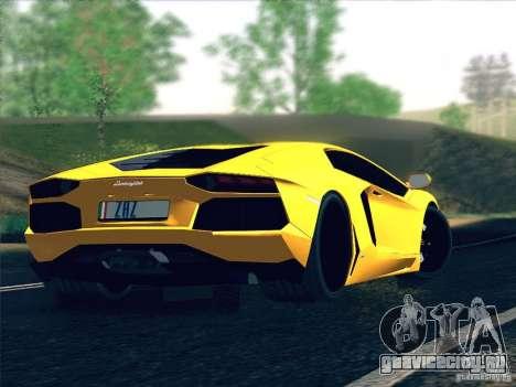 Lamborghini Aventador LP700-4 2011 V1.0 для GTA San Andreas вид сверху