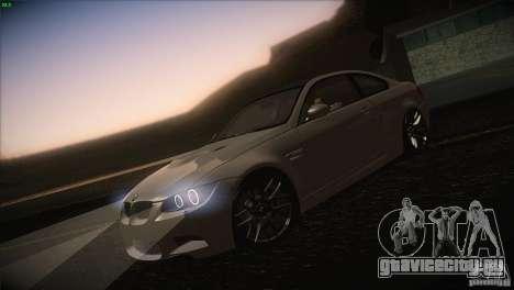 BMW M3 E92 для GTA San Andreas вид снизу