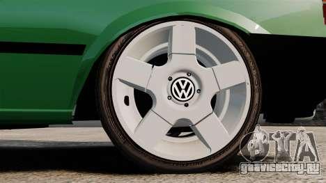 Volkswagen Gol GL 1992 Edit для GTA 4 вид сзади