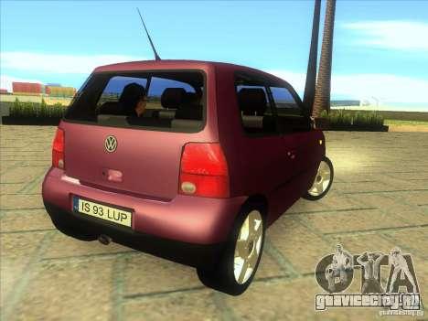 Volkswagen Lupo для GTA San Andreas вид справа