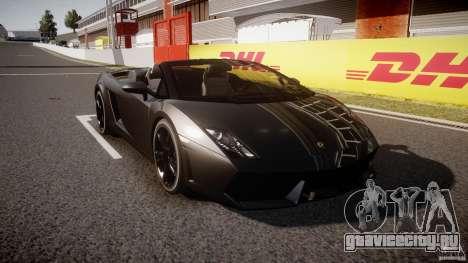 Lamborghini Gallardo LP560-4 Spyder 2009 для GTA 4 вид сзади