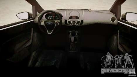 Ford Fiesta 2012 для GTA 4 вид изнутри