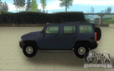 Hummer H3 для GTA San Andreas вид изнутри