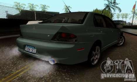 Mitsubishi Lancer Evolution 8 Tuneable для GTA San Andreas вид сзади слева