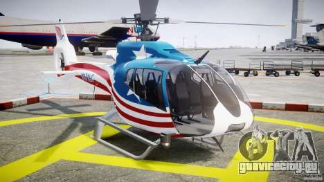 Eurocopter EC 130 B4 USA Theme для GTA 4 вид сзади