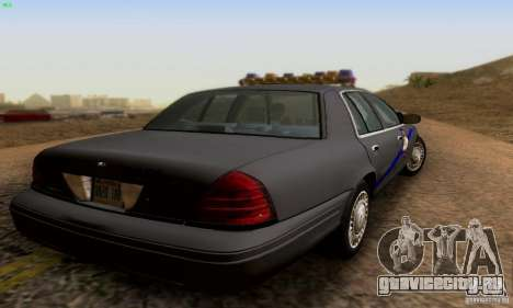 Ford Crown Victoria Kentucky Police для GTA San Andreas вид слева