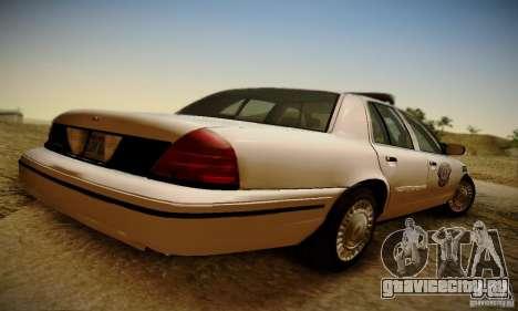 Ford Crown Victoria Missouri Police для GTA San Andreas вид слева