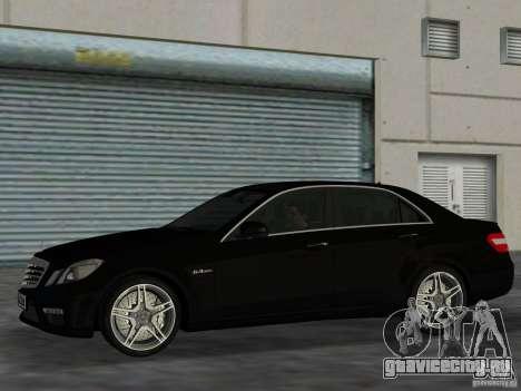 Mercedes-Benz E63 AMG для GTA Vice City вид слева