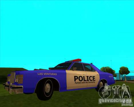 Ford Custom 500 4 door police 1975 для GTA San Andreas