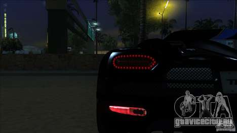 Koenigsegg Agera 2010 для GTA San Andreas вид сбоку