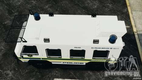 RG-12 Nyala - South African Police Service для GTA 4 вид справа