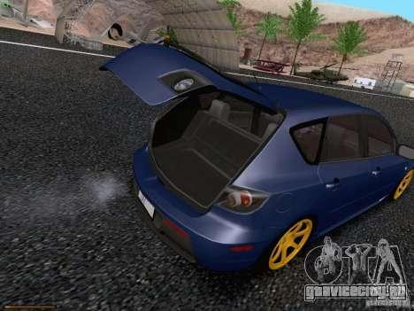 Mazda Speed 3 для GTA San Andreas вид изнутри