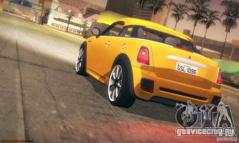 Mini Concept Coupe 2010 для GTA San Andreas вид сверху