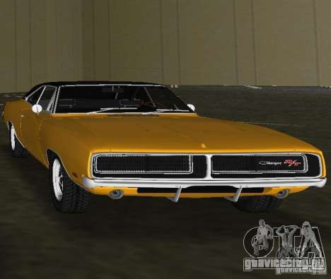 Dodge Charger RT 1969 для GTA Vice City вид справа