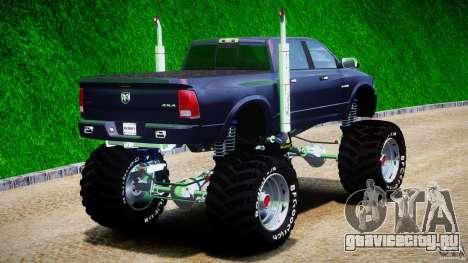 Dodge Ram 3500 2010 Monster Bigfut для GTA 4 вид сбоку