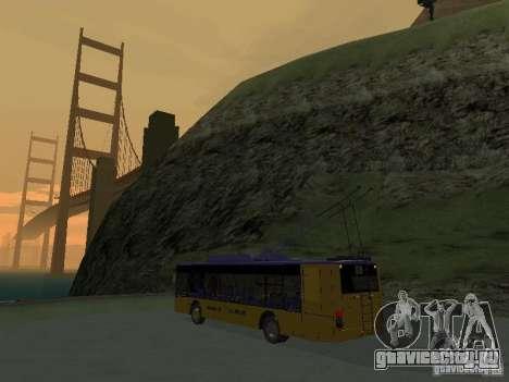 Троллейбус ЛАЗ Е-183 для GTA San Andreas вид сзади