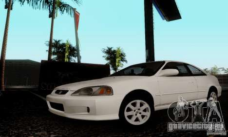 Honda Civic 1999 Si Coupe для GTA San Andreas вид сзади слева