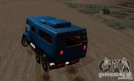 Journey 6x6 Enterable V1 для GTA San Andreas вид сзади