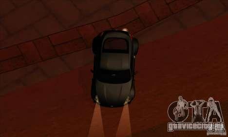 Nissan 370z Drift Edition для GTA San Andreas вид изнутри