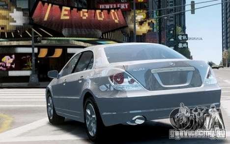 Acura RL 2006 для GTA 4 вид справа