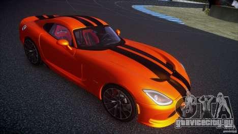 Dodge Viper GTS 2013 v1.0 для GTA 4 вид сзади слева