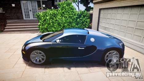 Bugatti Veyron 16.4 v3.0 2005 [EPM] Strasbourg для GTA 4 вид сзади слева