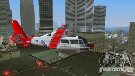 Eurocopter As-365N Dauphin II для GTA Vice City вид сзади слева