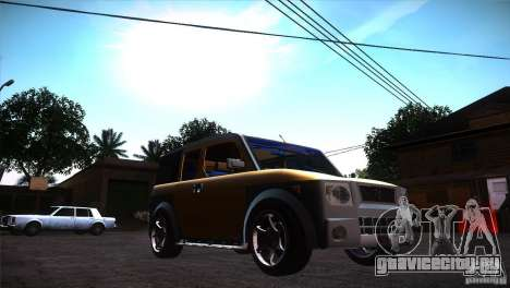 Honda Element LX для GTA San Andreas вид сзади