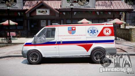 Ford Transit Polish Ambulance [ELS] для GTA 4 вид слева
