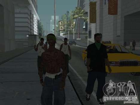 Замена всех скинов Grove Street Families для GTA San Andreas шестой скриншот