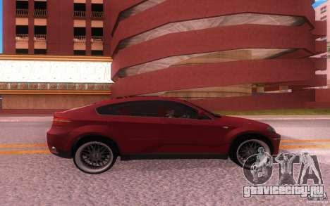 BMW X6 Tuning для GTA San Andreas вид справа