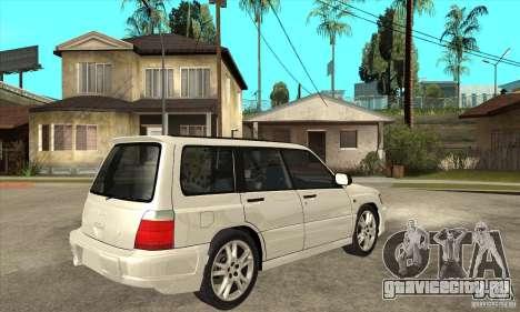 Subaru Forester для GTA San Andreas вид справа