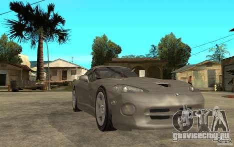 Dodge Viper GTS для GTA San Andreas вид сзади